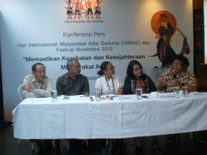 Konferensi Pers Hari Internasional Masyarakat Sedunia & Nusantara Festival  -