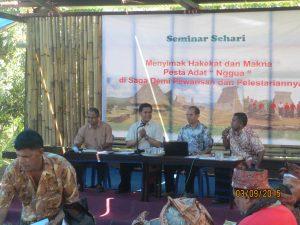 "Seminar Hakikat dan Makna Pesta Adat Nggua"" Di Saga"