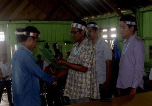 Pelantikan Ketua Pengurus Pemuda Adat Mentawai Terpilih Agung BJ Saleleubaja