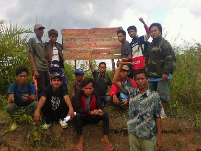 Salah Satu Plang Putusan MK di Wilayah Adat Talang Durian Cacar